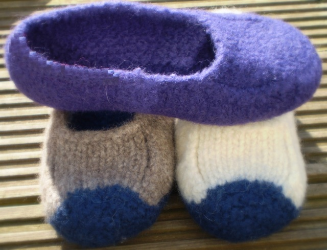 Duffers Felted Slippers Original Pattern